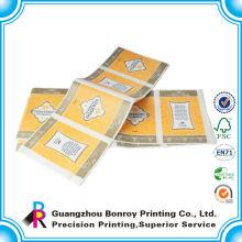 Etiqueta de ropa personalizada de impresión a todo color de la impresora de Guangzhou