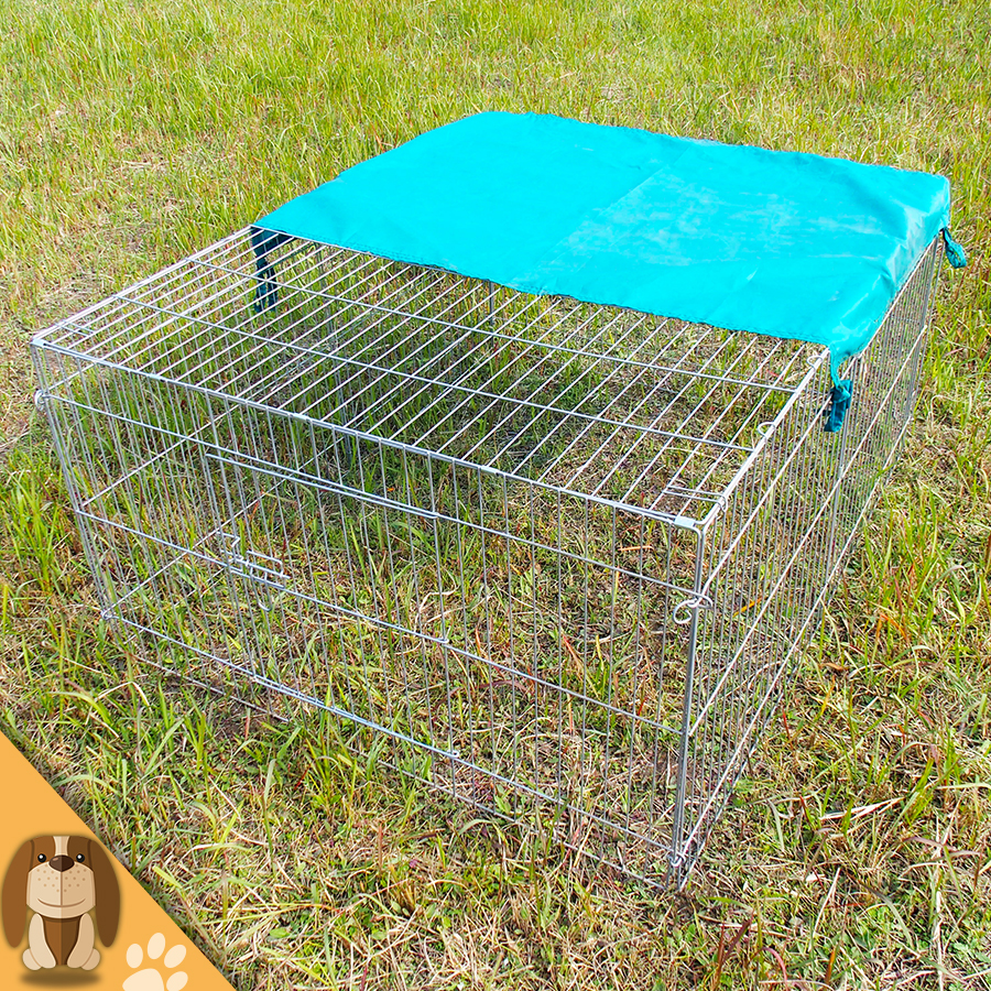 Galvanized Folding Rabbit Cage