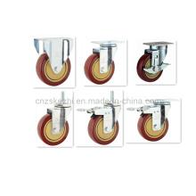 Roulette pivotante en PVC simple à rouleaux (KMX2-M1)
