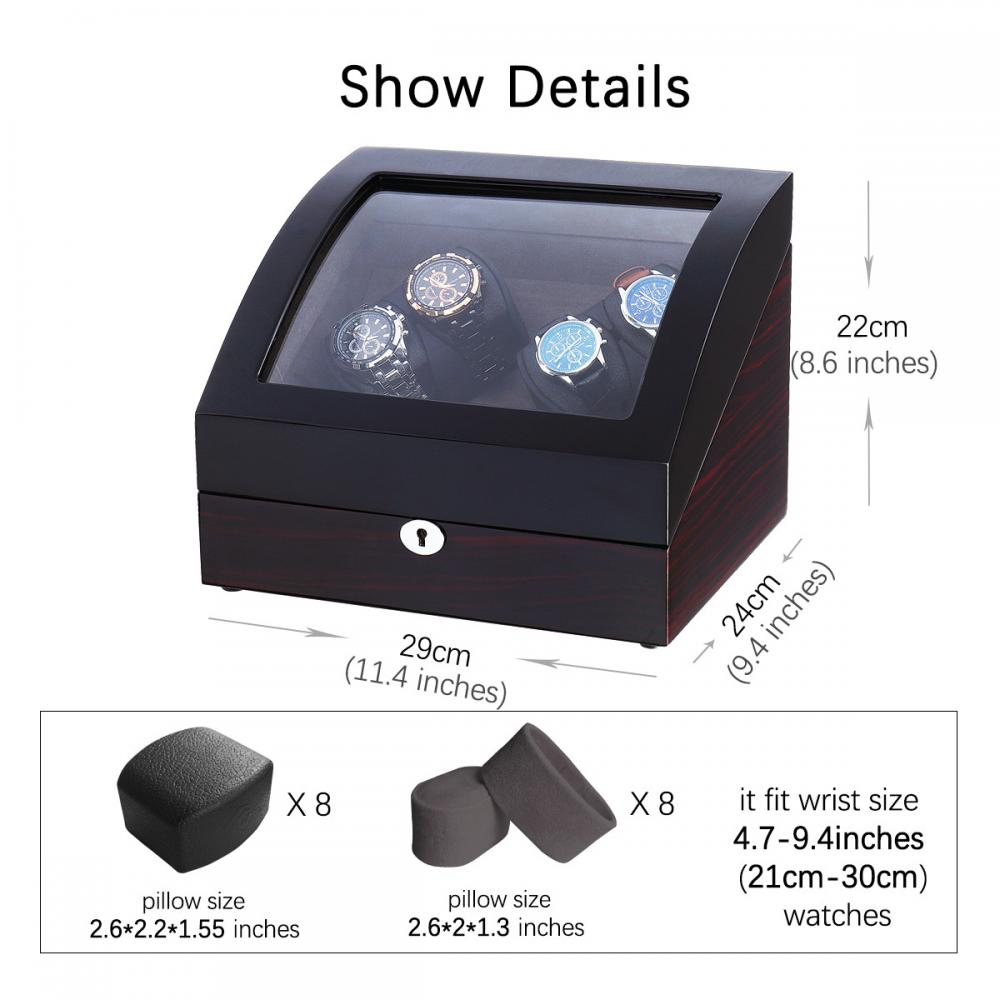 Ww 8222 Double Rotation Watch Winder For Display Size