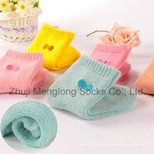Enfants hiver coton chaussettes avec coussin/Terry à l'intérieur du pied