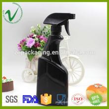 High-quality flat 500ml empty plastic soap dispenser bottle with pump sprayer