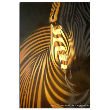 Handgemachtes Wand-Kunst-PferdeÖlgemälde auf Segeltuch-Wiedergabe (AN-024)