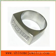 Cuerpo joyas de moda de acero inoxidable CZ anillo (czr2523)