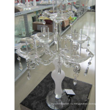 Замороженный стеклянный подсвечник с пятью столбами ...