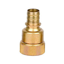 solid brass barbed end thread EU US universal hose coupling