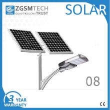 Tipo de luz de calle solar LED de 100W