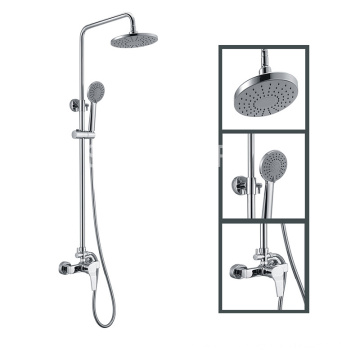 Chrome Brass Rain Concealed Hidden Shower Set with Handheld Shower