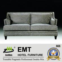 Sofá cómodo doble cómodo del hotel Sofá de madera del hotel (EMT-SF38)