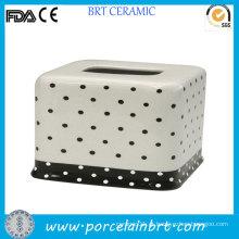 Atacado Toilet Dots caixa de tecido cerâmico