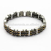 Pulsera de la moda del miembro de oro, pulsera de la pulsera del acero inoxidable