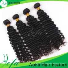 Мода Гуанчжоу Норки Девственные Волосы Бразильский Глубокая Волна Человеческих Волос Расширения