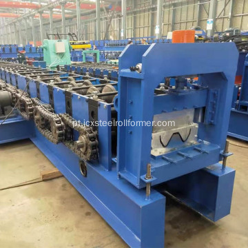Highway guardrail channel roll forming machine