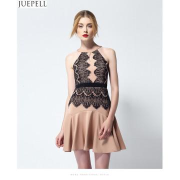 2016 neue Sommer Paket Hüfte Dünnen Dünnen Halter Sexy Trägerlosen Volants Spitze Kleid Weibliche Temperament Mode Kleider