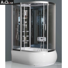 Aokeliya UK Complete Shower Cubicles Steam Room with Door and Electric Panel