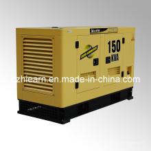 Grupo silencioso de generador diesel refrigerado por agua tipo (GF2-150kVA)
