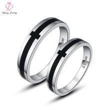 Neuester Preis Neuestes Design Italienisch Niedlich Ohne Stein Kreuz 925 Silber Magnetische Paar Ring