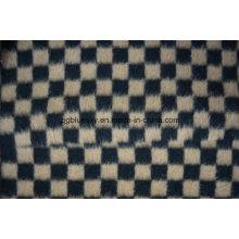 Black & Brown Check Wool Fabric