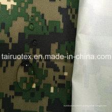 Tecido de camuflagem militar de 100% poliéster Oxford com revestimento branco