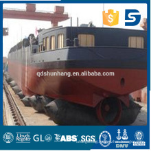 Anti-explosion rubber ship airbag used for floating bridge and dock construction