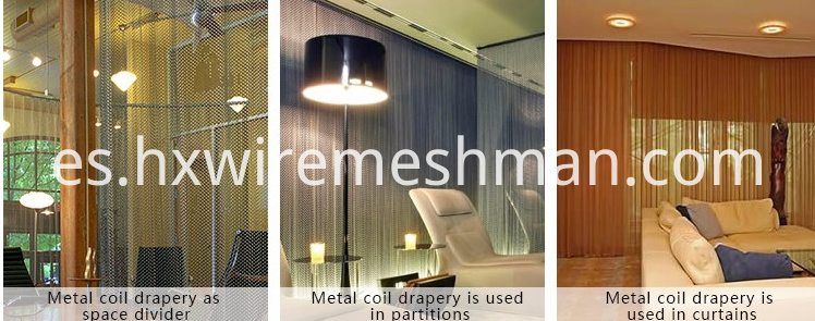 wire mesh drapery application