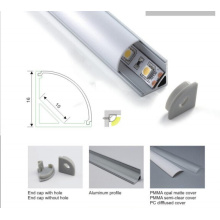 Profil en aluminium de forme 1616 V pour éclairage de coin