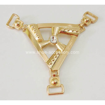 Popular Rose Gold Metal Chain Sandal of Shoes Accessories