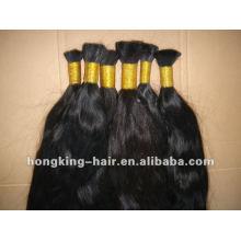 100% human virgin hair bulk hot sale indian remy hair