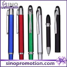 2 em 1 multi-função caneta esferográfica caneta de toque de borracha ponta