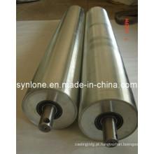Eixo de aço com rolo de acionamento do processo de usinagem