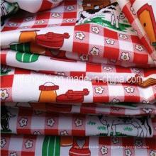 Tissu mini de polyester de 100% mini pour le linge de table / vêtements
