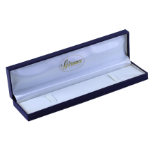 Custom logo luxury design printed MDF leather jewelry packaging wood necklace box