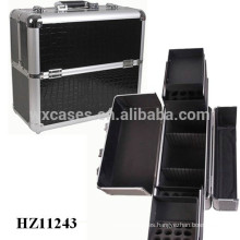 professional makeup cases with crocodile pattern PVC leather skin
