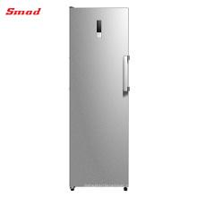 Congelador vertical ereto livre da geada criogénica de aço inoxidável home com exposição na porta