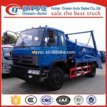 Dongfeng 4x2 colector de basura brazo oscilante con 8cbm capacidad