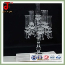 Crystal Glass Candle Holder with Light Cover (JD-CC-003)