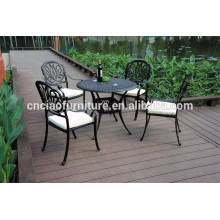 Elizabeth style courtyard 5 pcs cast aluminum patio furniture