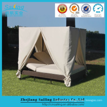 PE rattan furniture china luxury sunbed for outdoor