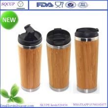 Caneca de bambu Eco-Friendly e bambu caneca e caneca do bambu de parede dupla