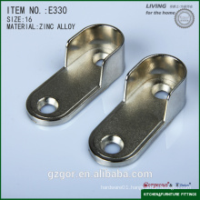 Gorgeous flat tube rail support/hanging rod/bracket-wardrobe fitting-furniture fitting