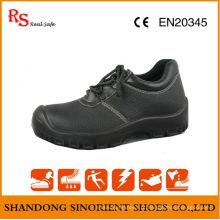 Ce Certificate Black Buffalo Leather ESD Chef sapatos de segurança RS046