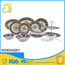 heavy weight unbreakable custom melamine dinnerware sets