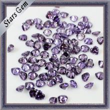 Горячее фиолетовое и кубическое циркониевое сердце