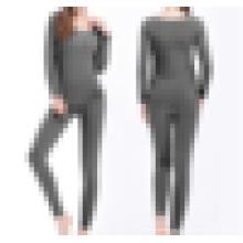 Slim ropa interior establece la moda sin costuras transpirable caliente señoras largas Johns