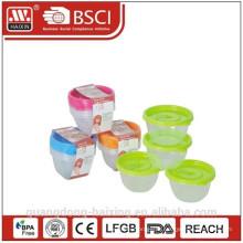 Пластиковый микроволновой продовольствия контейнера (0,45 Л) 4шт