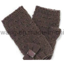Moda de punto de acrílico caliente Jacquard guantes / manoplas