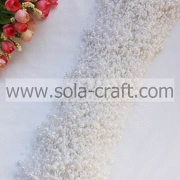 White Color Pearl Beaded Garland Chains with 3+8MM size for Wedding Centerpiece Décor