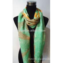 Printed Wool/ Acrylic Blending Scarf 30%Wool 70%Acrylic