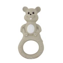 Cute mouse brinquedos de plástico para o bebê, anel de dentição