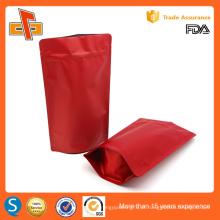 Reutilizável stand up personalizadas impressão embalagem de alimentos zipper stand up bolsa